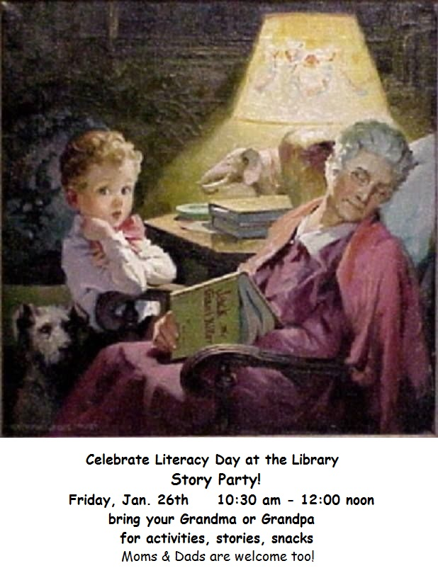 Visit the library with your grandparents for a reading party to celebrate Literacy Day!
